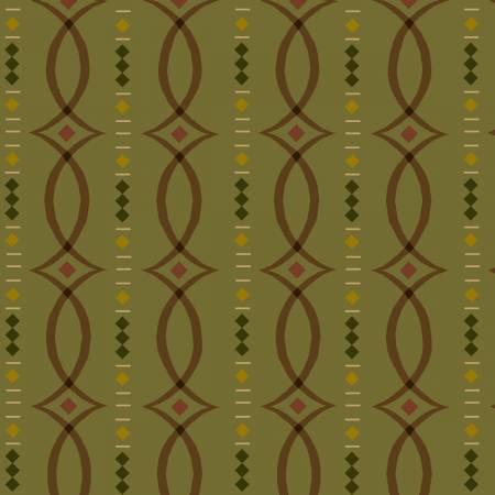 Green Fancy Stripe