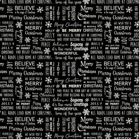 Jingle Bell Gunmetal Christmas Believe in Magic Flannel