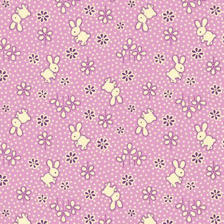 Lavender Bunny Toss 1930's Reproduction