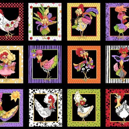 Multi Chicken Chique Portrait Panel