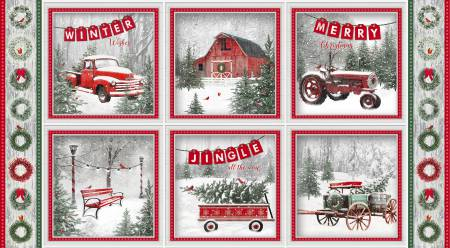 Holiday Wishes Multi Block Print