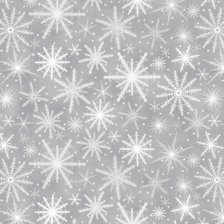 Henry Glass & Co. Holiday Wishes Grey Snowflakes