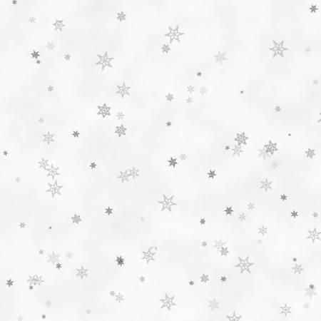 Grey Tiny Snowflakes Holiday Wishes