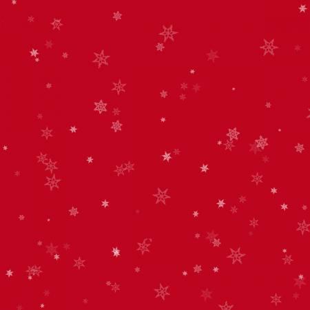 Red Tiny Snowflakes