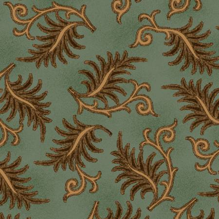 Aqua Toothed Leaves, 6938-11