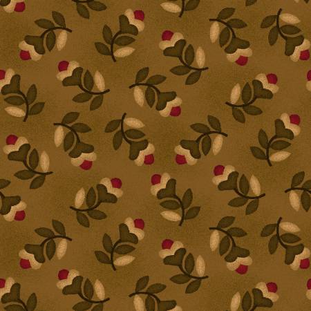 Farmstead Harvest Hickory Tossed Floral #6939-33 by Kim Diehl
