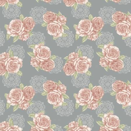 Grey/Rose Grandeur Bouquet 6946B-11