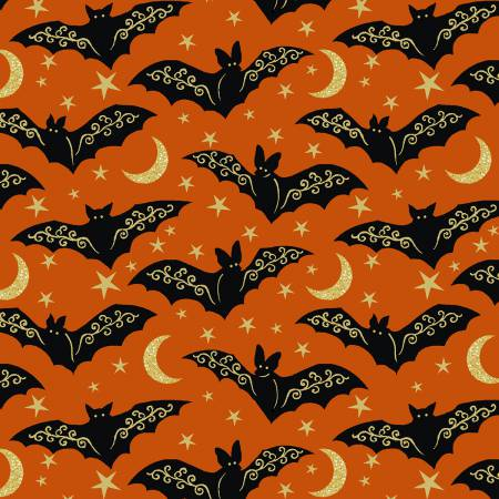 Midnight Spell Orange Bats w/Metallic