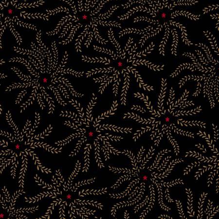 Henry Glass Ebony & Onyx Starburst Floral-Black