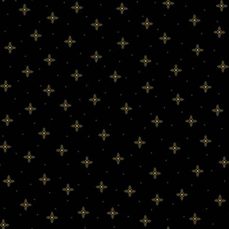 Geometric Petals-Black