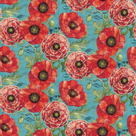 Poppies Alone by Tim Coffey for Springs Creative