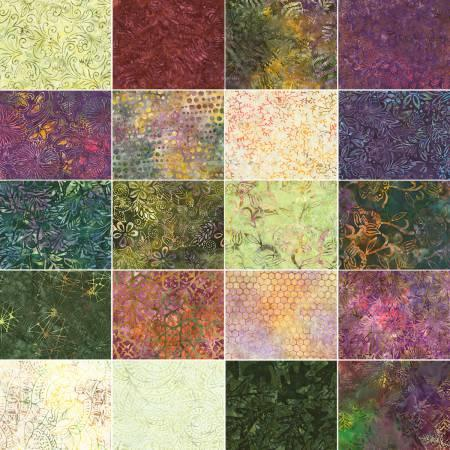 6in Strips Tonga Batik Tuscany 20pcs/pack
