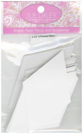 2-1/2in 6 Pointed Star Papers (50 pieces per bag)