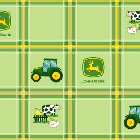 John Deere-Green Tractor Plaid