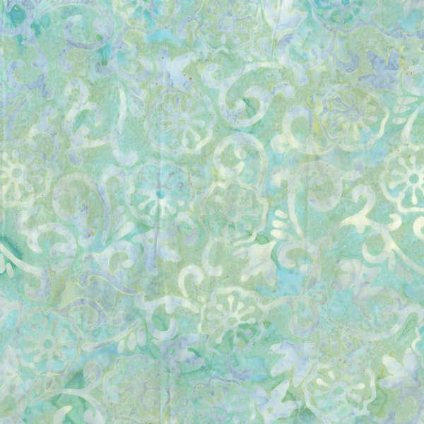 Aqua Floral Batik