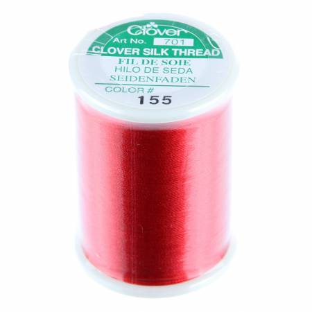 Red Silk Thread 50wt 109yds Clover