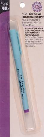 Fine Line Air Erasable Marking Pen- Blue