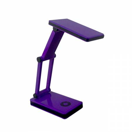 Folding Portable Purple Desk Lamp With Batteries & USB Cable Included