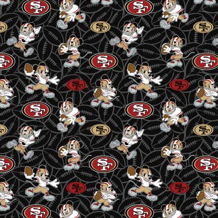 NFL Disney Mickey San Francisco 49ers Cotton 70391-D