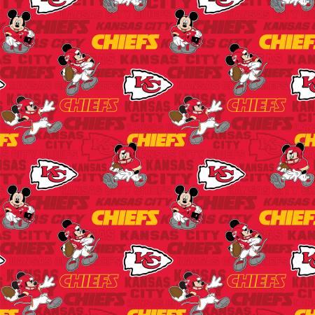 NFL Disney Mickey Kansas City Chiefs Cotton 70392