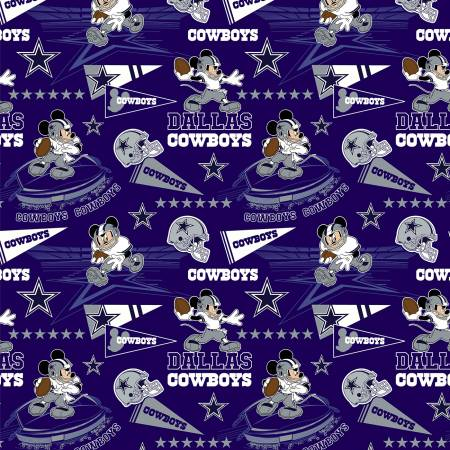 NFLD 70393 NFL Disney Mickey Dallas Cowboys Fabric Traditions