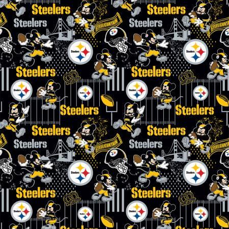 NFL Disney Mickey Pittsburgh Steelers Cotton 70395