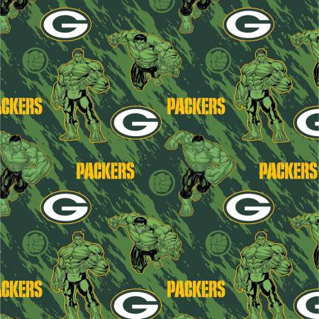 NFL Marvel Hulk Green Pay Packers Cotton 70396-D