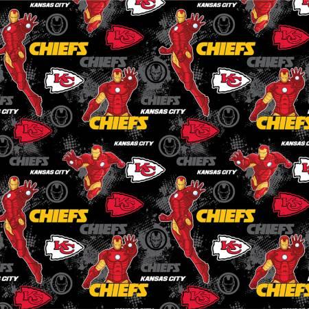 NFL Marvel Iron Man Kansas City Chiefs Cotton 70397-D