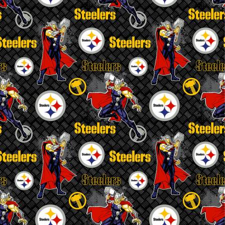 NFL Marvel Thor Pittsburgh Steelers Cotton 70398-D