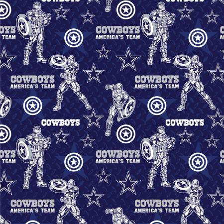 NFL Marvel Captain America Dallas Cowboys Cotton