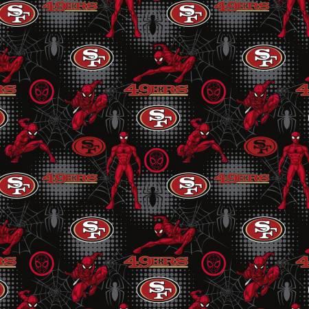 NFL Marvel Spider-Man San Francisco 49ers Cotton 70400-D
