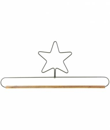 12in Star Fabric Holder Gray