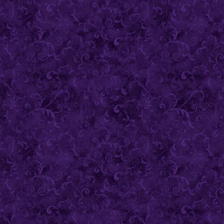 Purple Filigree 108in Wide Back