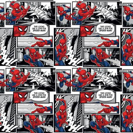SPECIALTY FABRICS:  Marvel Spiderman Comic Panels by Springs Creative
