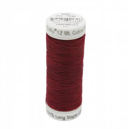 12wt Cotton Petites 50yd Merlot Wine