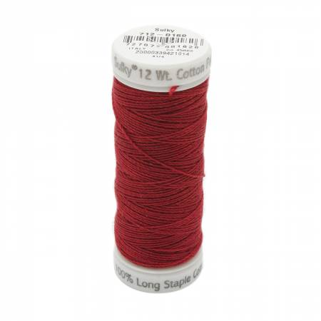 12wt Cotton Petites 50yd Cabernet Red