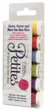 Petites 12wt Cotton Thread 6 Pack Summer