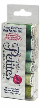 Petites 12wt Cotton Thread 6 Pack Greens