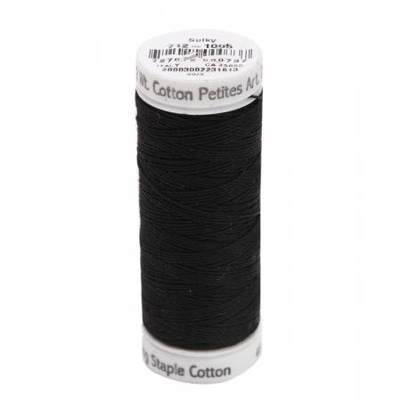 Cotton Thread 2-ply 12wt 50yds Black