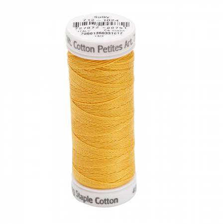 Cotton Petite Thread 2-ply 12wt 50yds Goldenrod