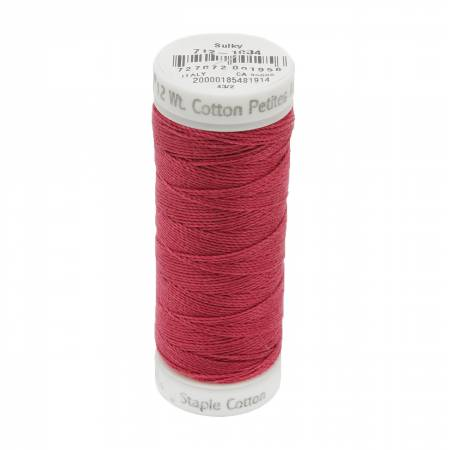 12wt Cotton Petites 50yd Burgundy
