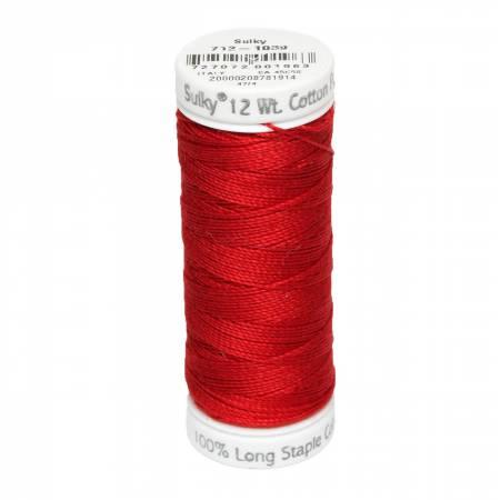 12wt Cotton Petites 50yd True Red