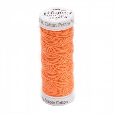 Cotton Petite Thread 2-ply 12wt 50yds Tangerine