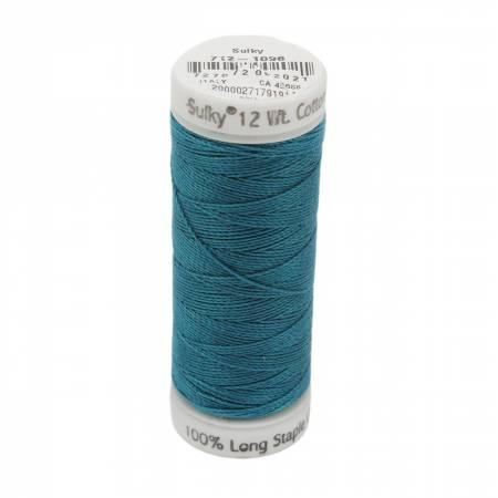 12wt Cotton Petites 50yd Dk Turquoise