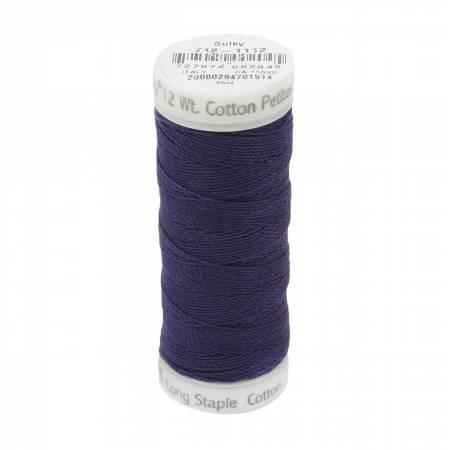 712-1112 Sulky 12wt Cotton Petites 50yd Royal Purple