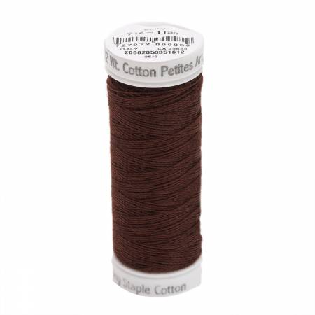 Cotton Thread 2-ply 12wt 50yds Dark Brown
