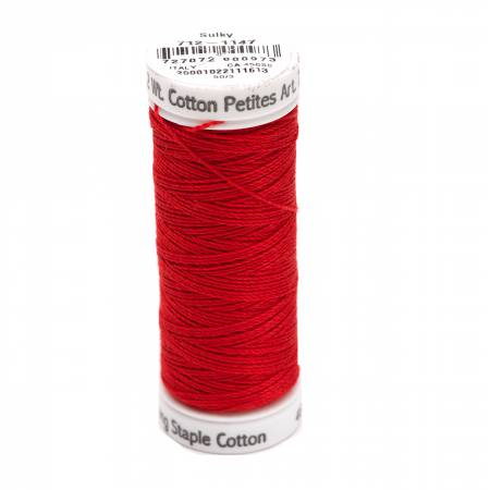 12wt Cotton Petite 50yds Christmas Red