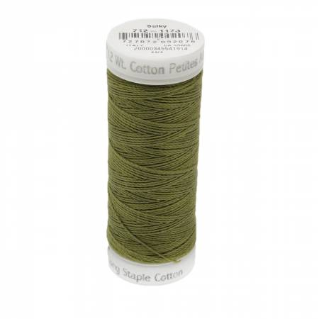 12wt Cotton Petites 50yd Med Army Green