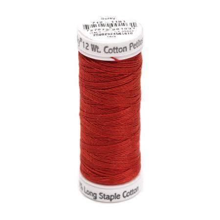 Cotton Petite Thread 2-ply 12wt 50yds Rust