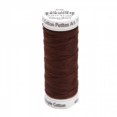 Cotton Petite Thread 2-ply 12wt 50yds Sable Brown